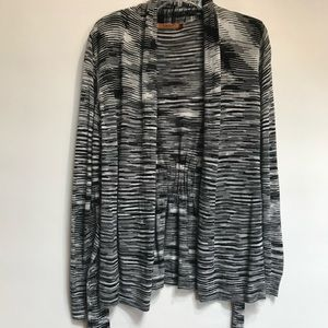 Belldini Cardigan Long Sleeve Grey/black white M